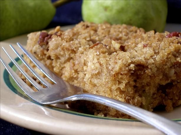 Pear Coffee Cake With Ginger Pecan Crunch Topping Recipe - Food.com ...