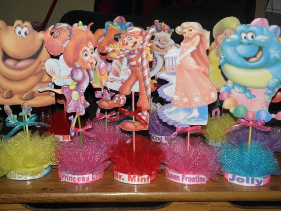 Centerpieces candyland party pinterest