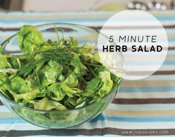 Minute Herb Salad | Gastronomy | Pinterest