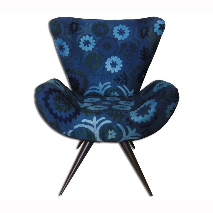 Frida Chair Suzani Cobalt