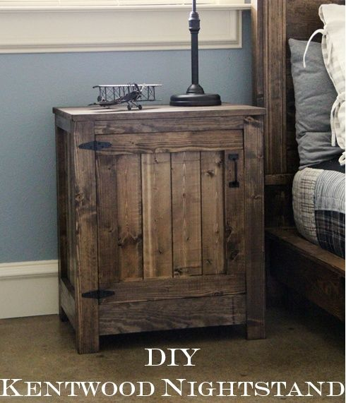 Pallet nightstand home sweet home pinterest for Diy rustic nightstand