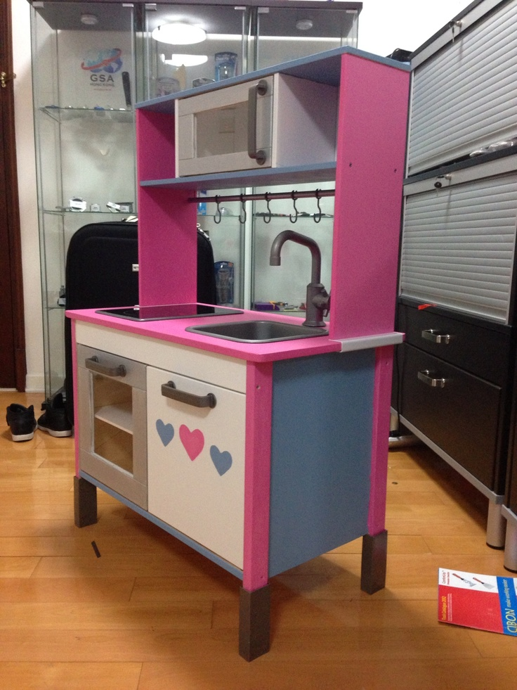 Cuisine Rouge Et Grise : Ikea play kitchen customised by me! )  Projects  Pinterest