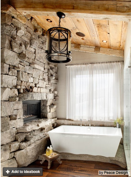 See Through Fireplace In Bedroom Bath