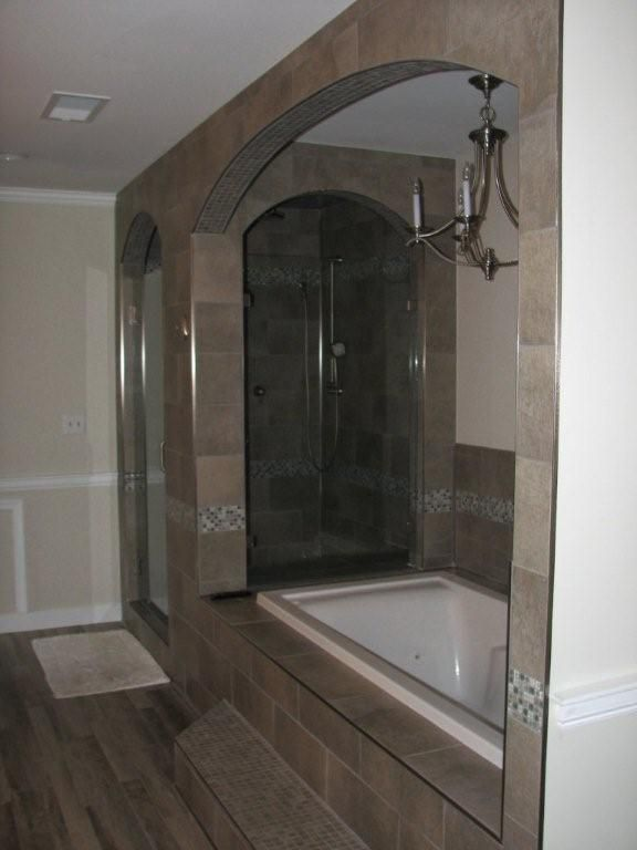 beautiful custom master bathroom remodel