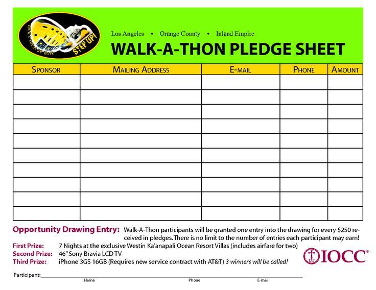 fundraising pledge card template | trattorialeondoro