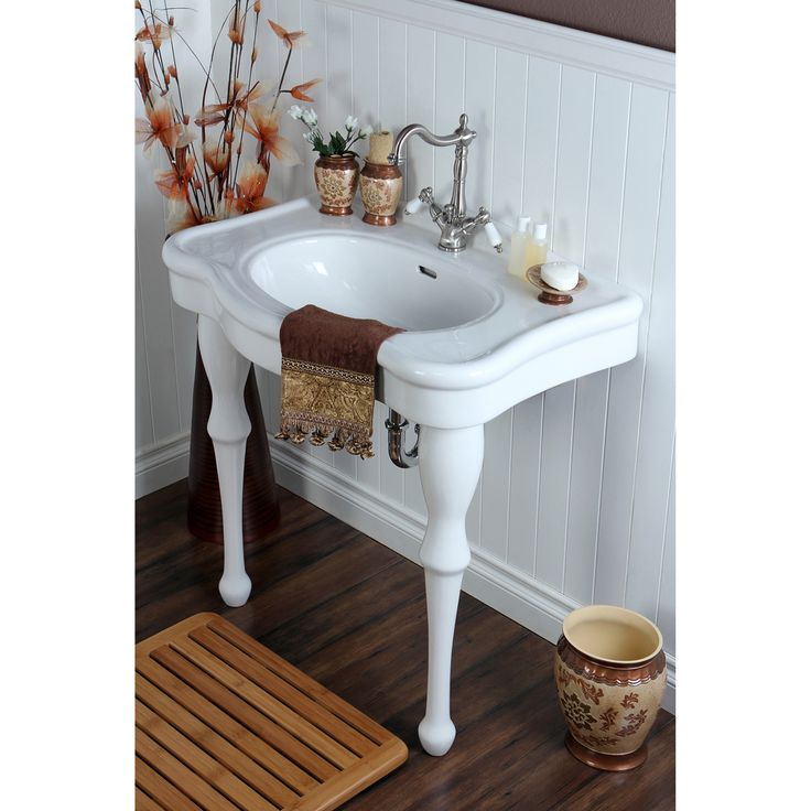 Wall Mount Pedestal Sink : Vintage 32-inch for Single-hole Wall Mount Pedestal Bathroom Sink ...