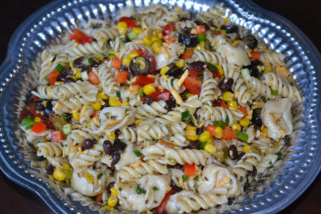 Southwestern Pasta Salad with Cilantro Lime Dressing