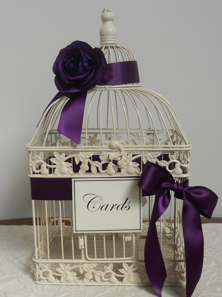 Ivory Birdcage/Wedding Card Holder