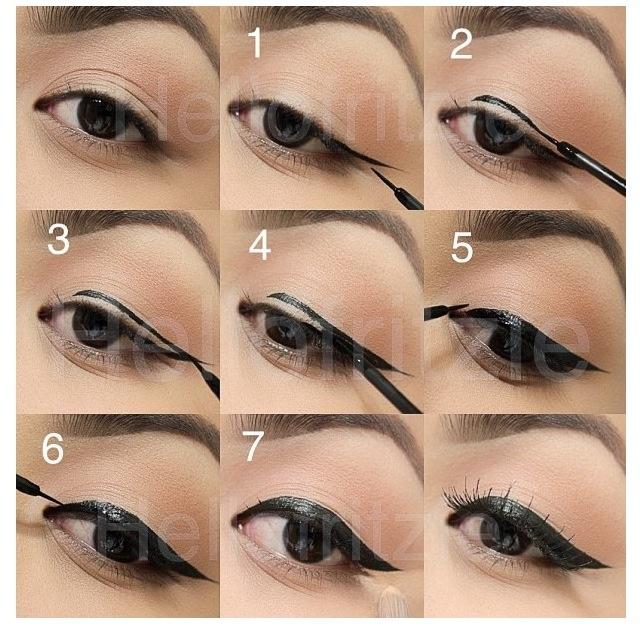 How to put eyeliner make up pinterest