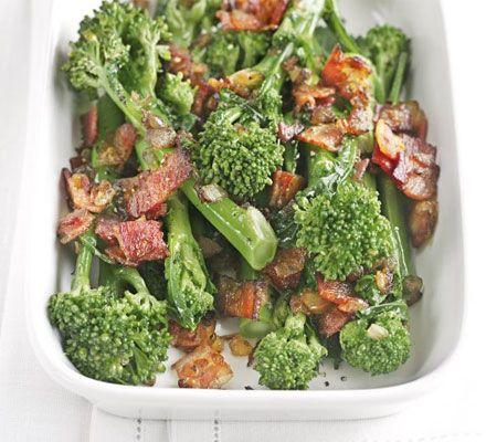 Tenderstem broccoli with sautéed onions & bacon recipe - Recipes ...