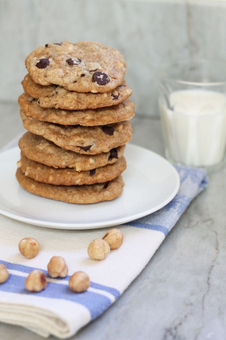 chocolate chips hazelnut butter cookies with mini chocolate chips ...