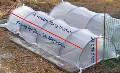 Instruction on how to make Vegetable row covers protects from wind and freezing