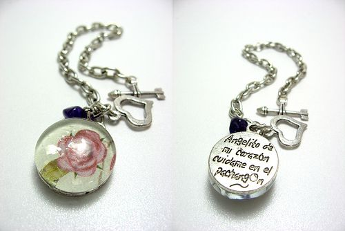 glass pebbles pendant | BRACELETS | Pinterest