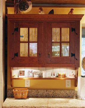 St. Louis 6 Log Cabin Painted Kitchen - Love these hinges