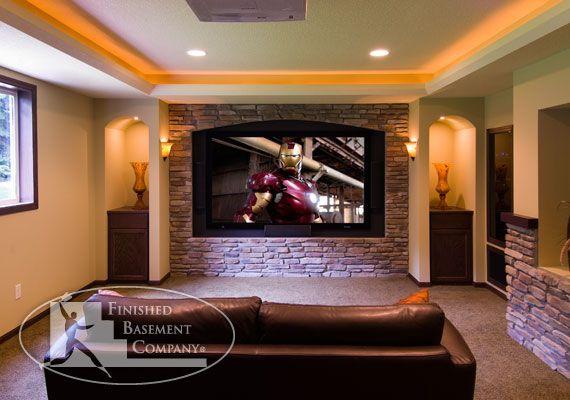 basement design tv wall brian 39 s dream basement pinterest
