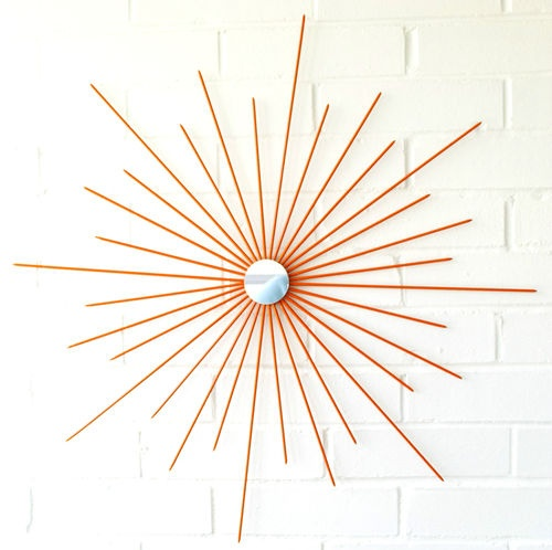 Retro Starburst Wall Decor : S retro modern metal mirror custom wall art decor