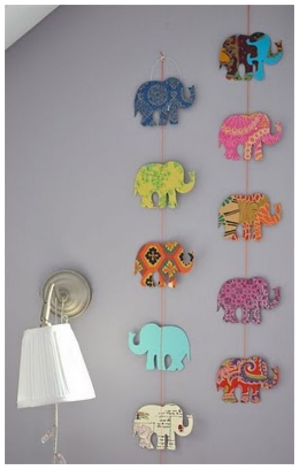 Elephants For This Decoration All You Have To Do Is Cut Out Any Image