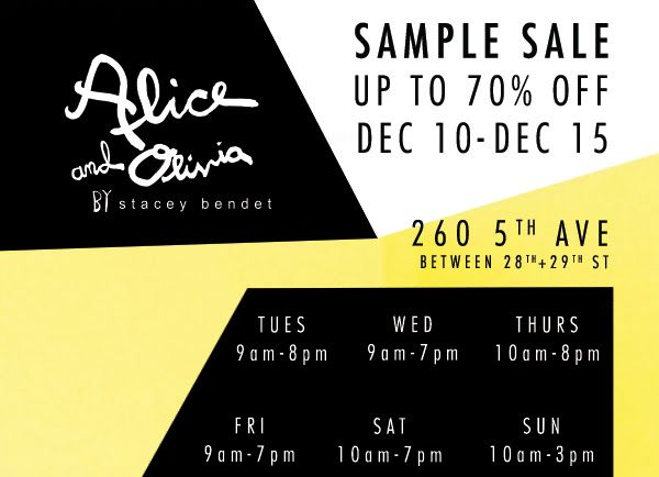 Alice and Olivia Sample Sale