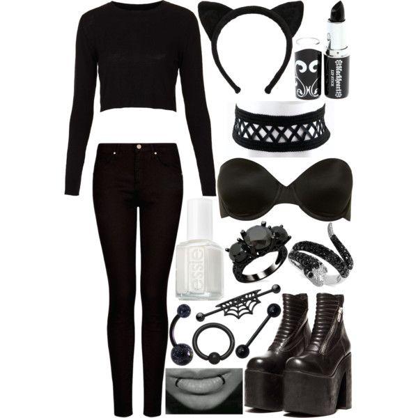 Black Cat, DIY halloween costume | Halloween 2013 | Pinterest