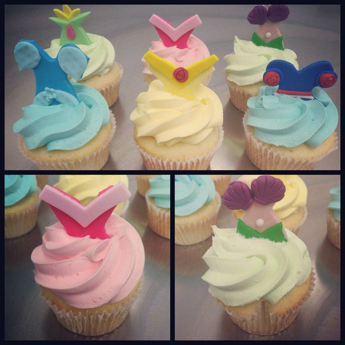 Disney Princess Dress Cupcakes - Great for kids parties! At Kustom Cupcakes Perth only!