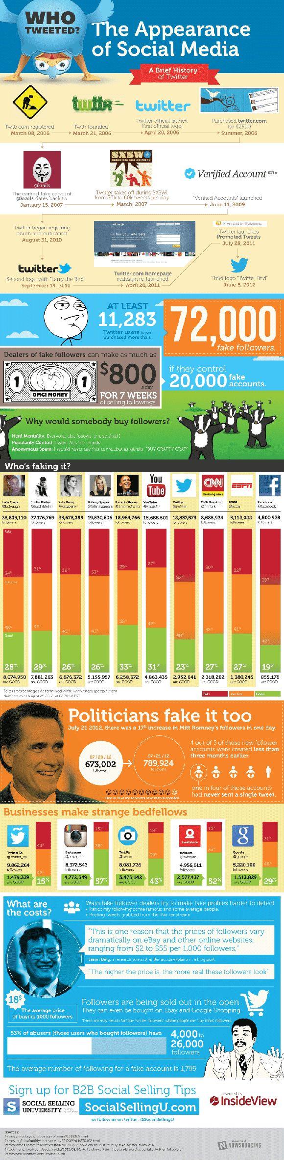 #Twitter fake followers infographic