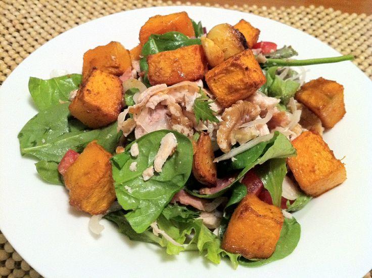 Paleo Recipe: Chicken, Bacon & Roast Pumpkin Salad - Paleo Australia