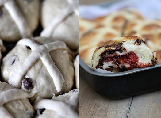 Hot Cross Strawberry Chocolate Chip Buns | Bimby | Pinterest