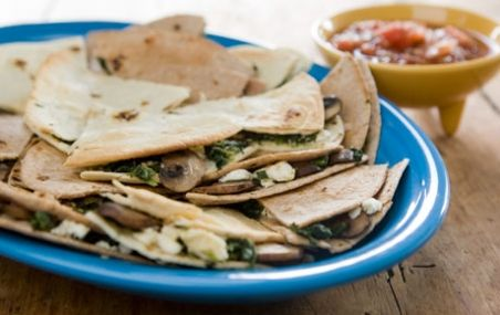 Spinach-Mushroom Quesadillas with Feta | Whole Foods Market