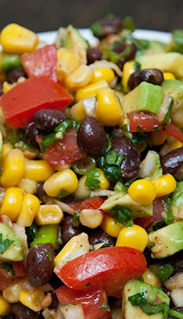 Southwestern Black Bean Salad | Side dishes | Pinterest