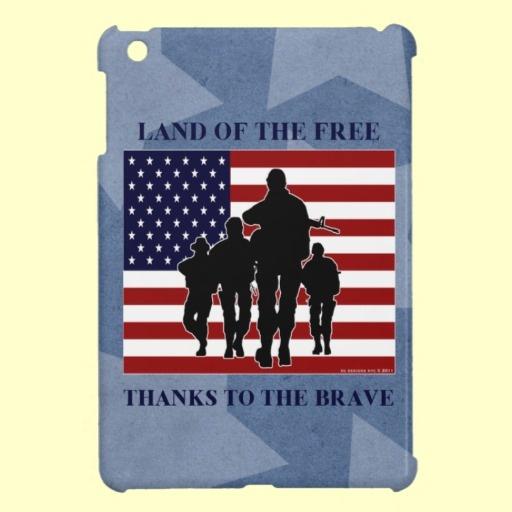 Land of free thanks to the brave quot ipad mini case patriotic