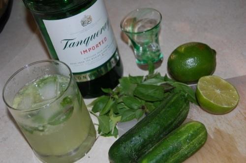cucumber basil gimlet | Thirsty?? | Pinterest