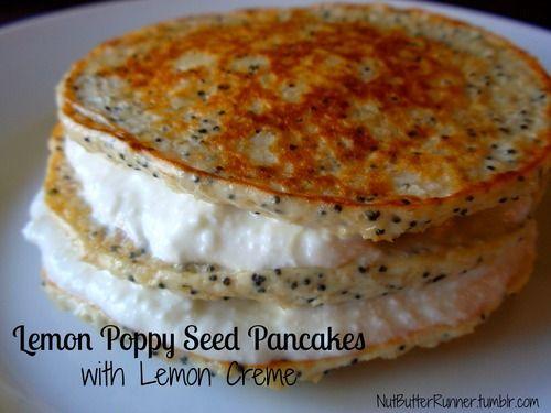 Lemon Poppy Seed Pancakes with Lemon Creme make sure the oats are ...