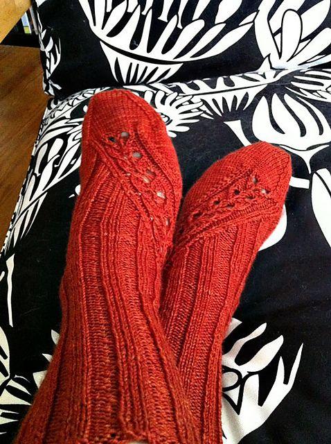 red knit socks