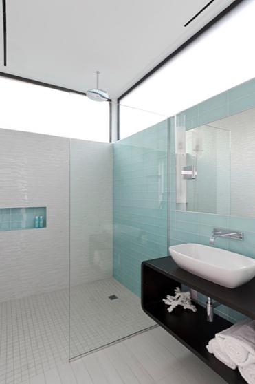 Sea Glass Tile Bathroom Designs Pinterest