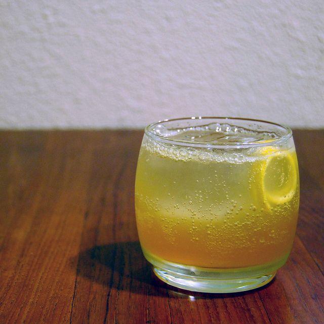 -Ginger Fizz: bourbon, lemon juice, lemongrass-ginger simple syrup ...