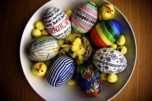 Idée de décoration doeuf de pâques -md  Pâques  Pinterest