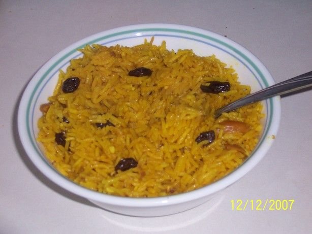 Persian-Style Basmati Rice Pilaf from Food.com: I like to add in a ...