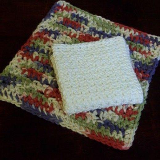 Crochet Thread Dish Cloth Pattern