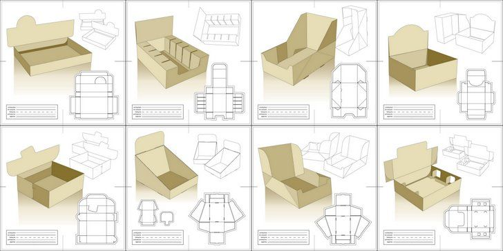 Free Packaging Templates - VectorUnique Package Design Templates