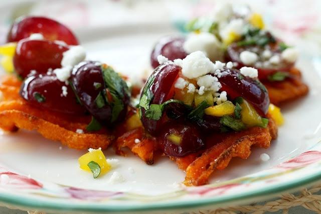 ... Chef Grape: Sweet Potato Crostini with Goat Cheese and Grape Salsa