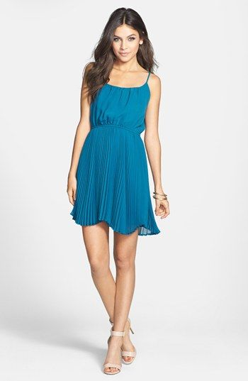 Liberty love pleat skater dress juniors available at nordstrom