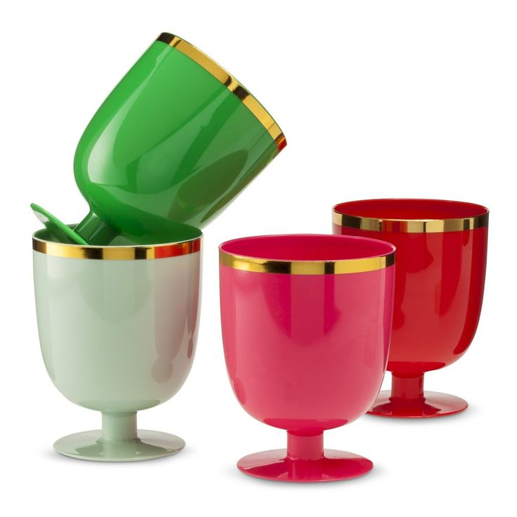 Omg, oh joy for target goblets are BACK fir xmas and are four for $4. Sold!!! The perfect hot pink toothbrush cup....