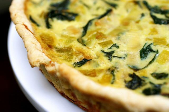 Leek & swiss chard tart by smittenkitchen - Try adding a dollop of ...
