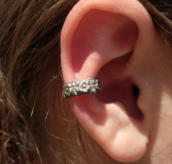ear cuff solid sterling silver ear cuffs with beautiful. Black Bedroom Furniture Sets. Home Design Ideas