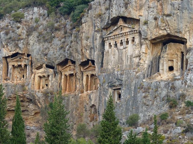 Lycian rock tombs dalyan  Historical Places In Turkey ...