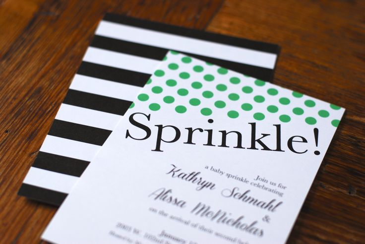 kate spade inspired baby shower invitation stripes and polka dots