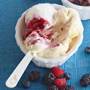Raspberry Swirl Ice Cream #FourthofJuly   Desserts   Pinterest
