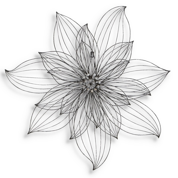 Simple Wire Flower Wall Decor Crafts Metal Wire Pinterest