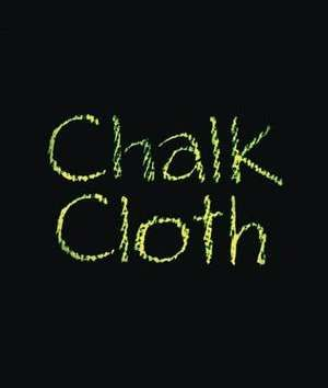 Yep...Chalkcloth...it acts like a fabric chalkboard. Chalkcloth is portable, lightweight and erasable; you can sponge it clean with water to renew.