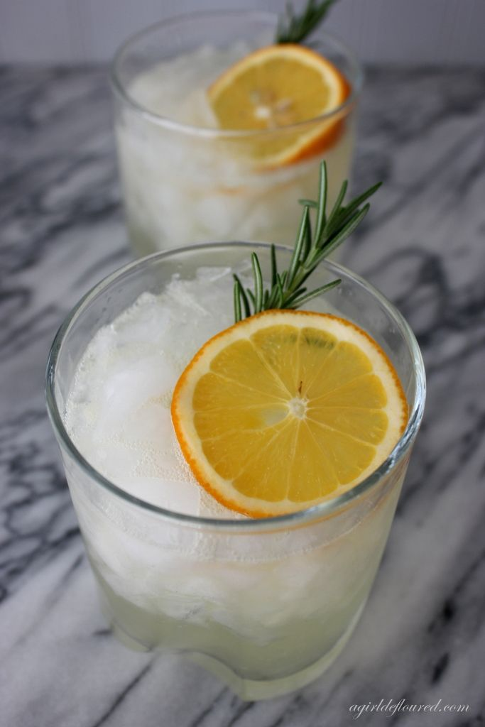 rosemary gin fizz | Recipes to try | Pinterest